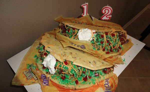 Taco Bell Birthday Cake
