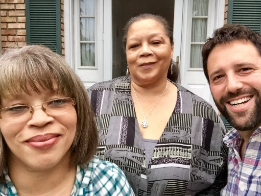 Dan with Rosa Parks' Nieces, Sheila and Deb