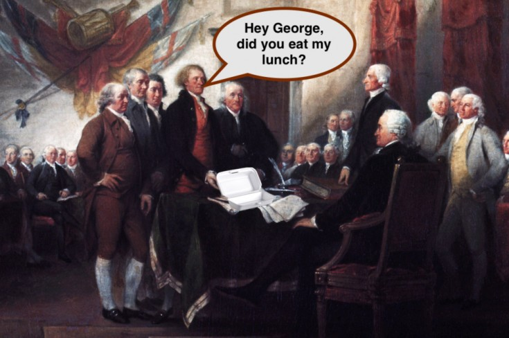 Office Fridge Theft: What Would the Founding Fathers Do?